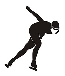 Speed Skater Silhouette v7 Decal Sticker